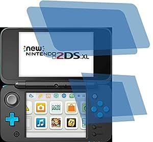 4x Crystal clear klar Schutzfolie für New Nintendo 2DS XL Konsole Premium Displayschutzfolie Bildschirmschutzfolie Schutzhülle Displayschutz Displayfolie Folie