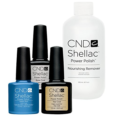 Preisvergleich Produktbild CND Original CND Shellac Water Park plus Base Coat plus Top Coat 7,3 ml plus Shellac Remover 236 ml, 1er Pack (1 x 0.258 l)