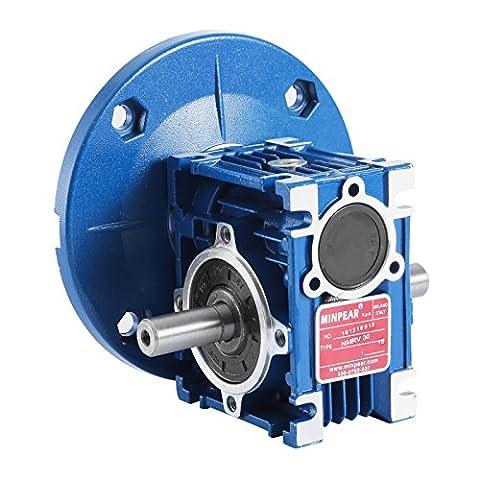 SucceBuy Worm Gear Reducer 159LB/IN Torque Speed Reducer Ratio 63C Speed Reducer Gearbox RV30 With Double