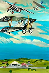 Oopsy daisy Air Show Stretched Canvas Wall Art by Jill Pabich, 20 by 30-Inch