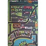 Alfombra de la ciudad para los niños sala de juegos de alta calidad – 130 x 200 cm – Circuito de la ciudad para los coches pequeños TAPITOM ®