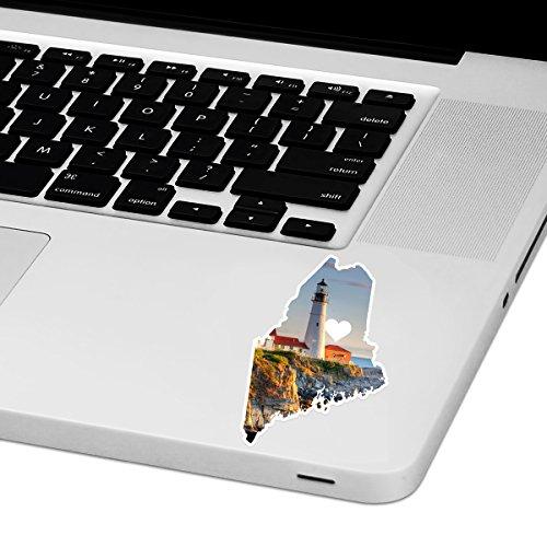 Maine Love Laptop Trackpad Aufkleber 6,3cm Breit x 10,2cm Hoch