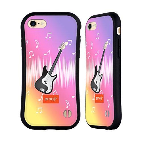 Ufficiale Emoji Vita Musica Case Ibrida per Apple iPhone X Chitarra