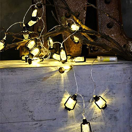 Prevently LED Lichterkette Batterie,Mini Nette Kleine Laterne LED String Lichter Innenweihnachtsbaum Außenbeleuchtung für Garten, Party, Hochzeit, Weihnachten (Black)