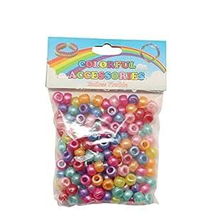 Cheri-Pack 100 perles Charms breloques pour Loom Bandz élastique bracelet + boucle d'oreille offre