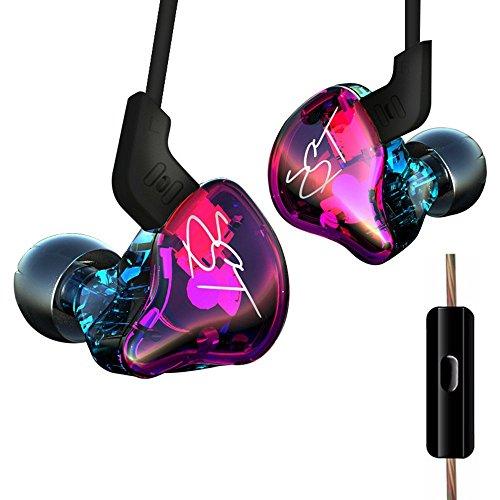 Original KZ ZST Pro Dynamic HiFi Bass Musik Sport In-Ear-Ohrhörer mit MIC Hybrid Drive - Bunt