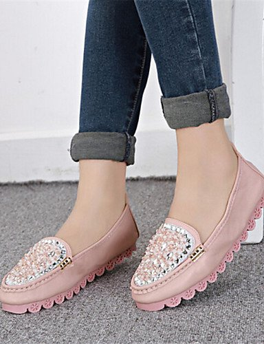 ZQ Scarpe Donna Finta pelle Piatto Punta arrotondata Mocassini Casual Blu/Rosa/Bianco , pink-us8 / eu39 / uk6 / cn39 , pink-us8 / eu39 / uk6 / cn39 pink-us5.5 / eu36 / uk3.5 / cn35