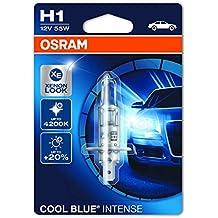 Osram 64150 Cool Blue Intense H1 Lámpara Halógena de Faros, 12 V, 55 W, Blister Individual