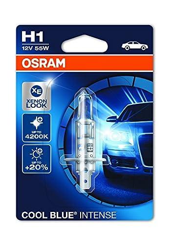 OSRAM COOL BLUE INTENSE H1, Halogen-Scheinwerferlampe, 64150CBI-01B, 12V PKW, Einzelblister (1 Stück)