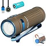 Olight S1R Baton II Mini Taschenlampe 1000 Lumen Kaltes Weiß LED Kompakt Taschenlampe USB Magnetische Wiederaufladbare EDC Kleine Taschenlampen, mit 16340 Akku + Batteriefach