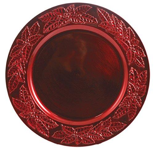 Galileo Casa étoile noël Dessous de Plat, mélamine, Rouge, 33 x 33 x 2 cm