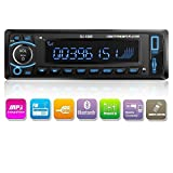 Kidcia Car Stereo, Single-Din Version, Bluetooth In Dash, Remote Control, Digital Media Receivers, USB/SD/Audio Receiver/MP3 Player/FM Radio by Kidcia