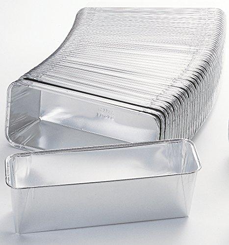 50 x Antihaft - Aluschalen / Leberkäseschalen / Bratenschalen 23,2 cm x 10,8 cm x 6 cm   1090 ml (0,31 € / Stück)