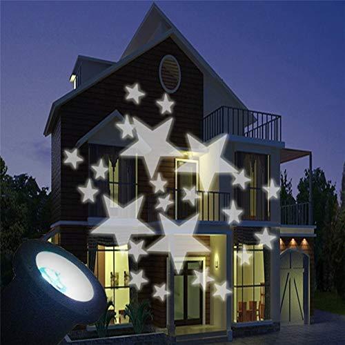Impermeable Móvil Lámpara proyección Estrella Blanca