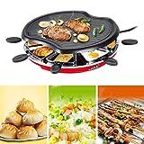 Elettrico Teppanyaki Grill Barbecue Ping Piastra 1300 Watt Include 8 Titolari Mano Ideale For La Cottura La Prima Colazione, Grigliate, Bistecche, Pollo Marinato E Molti Di Più Si Può Anche Usare Ques