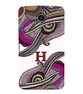 FIOBS abstract colourful vibrant design alphabet H Designer Back Case Cover for Motorola Nexus 6 :: Motorola Nexus X , Google Nexus 6