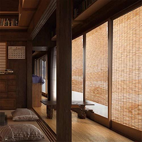 Persianas de bambú decoración del hogar Reed Cortina Enrollable persiana Cortina de la Cortina Cortina de césped de partición Interior y Exterior, el tamaño Puede ser Personalizado
