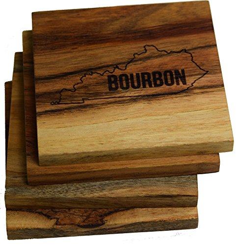 Gravur Louisville, Kentucky Untersetzer (Set von vier) Kentucky Bourbon Coasters Kentucky Coaster