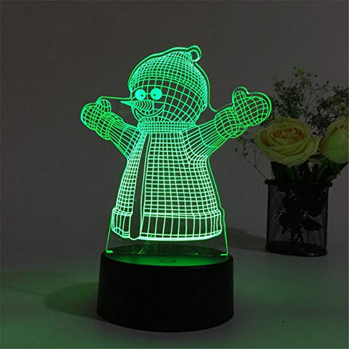 Knncch 7 Farbe Acryl 3D Nachtlicht Frohe Weihnachten Schneemann Santa Baum Elch Tier Cartoon Led Licht Dekor Für Schlafzimmer Touchs Lampe