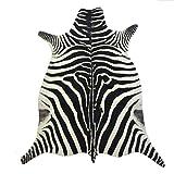 Safari Hunter - Animal Print Konturenschnitt Zebra | realistischer Look dank modernster Printtechnik | 100% Polyamid | stilvoller Hingucker | vielseitig einsetzbar und kombinierbar | sehr pflegeleicht, Größe auswählen:95 x 145 cm