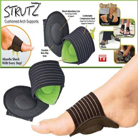MARK AMPLE 1Pair Strutz Cushioned Arch Foot Support Decrease Plantar Fasciitis Pain New Hot Foot Care Tools Foam