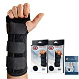 Doctor Developed Carpal Tunnel Night Wrist Brace & Wrist Support [Single] (with Splint)