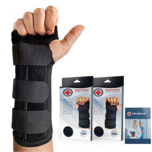 Von Ärzten entwickelte verstellbare Karpaltunnelsyndrom-Handgelenkorthese und Handgelenkstütze (Rechts) -