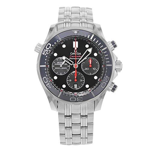 Omega da uomo 44mm con cinturino e cassa in acciaio automatico orologio analogico 212.30.44.50.01.001