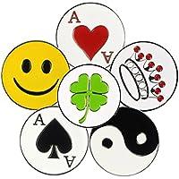Verschiedene Muster Weich Emaille Golf Ball Marker für Magnetischer Golf Hat Clip oder Pitchgabel