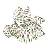 MagiDeal 10X Gabbia Esca Alimentatore Pesca Durevole Spring Lanciatore Feeder Metallo
