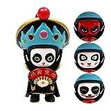 Changer de visage poupées porte-clés, 4 poupée visage doigt Jouet Sichuan opéra traditionnel chinois visage d'opéra chinois (Panda)