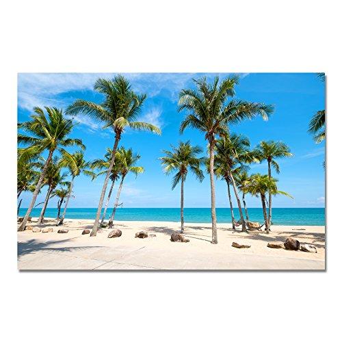 Design Poster Druck auf echtem Fotopapier - Strand / Mehr / Palmen / Urlaub, Design:Design 1, Format & Größe:50 x 40 cm | Rahmenformat