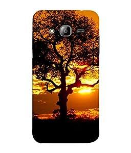 PrintVisa Designer Back Case Cover for Samsung Galaxy J5 (2015) :: Samsung Galaxy J5 Duos (2015 Model) :: Samsung Galaxy J5 J500F :: Samsung Galaxy J5 J500Fn J500G J500Y J500M (Tree Morning Evening Nature Shaam)