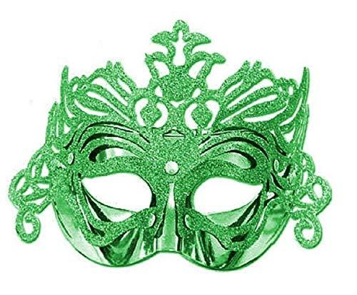 Frau Kostüm Figur Tv - Inception Pro Infinite Maske - grüne Farbe - Karneval - Halloween - Venezianer - Frau - Glitzer-Karneval - Halloween -