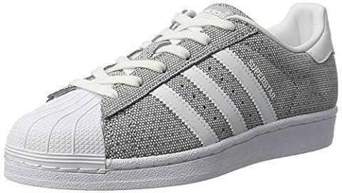 adidas Superstar W, Sneakers Basses Femme, Gris (Clonix/Ftwwht/Ftwwht), 38 EU