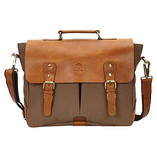 Rustique Town Unisexe Sac Messenger Sac pour ordinateur portable en cuir pour hommes femmes sac en cuir