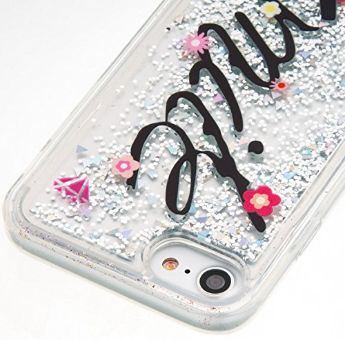 iPhone 4S Hülle Silikon,iPhone 4S Hülle Transparent,iPhone 4S Hülle Glitzer,iPhone 4S Clear TPU Case Hülle Klare Silikon Gel Schutzhülle Durchsichtig Rückschale Etui für iPhone 4,iPhone 4S Hülle Mädch U Liquid 8