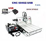 CNC Router Machine Engraving Machine CNC Milling Machine 6040Z 3 Axis Drilling Desktop Large 3D Engraving 1.5KW Inverter (6040Z (60x40cm) 3 Axis)