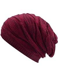 Amazon.es  Los Puntos - Rojo   Gorros de punto   Sombreros y gorras  Ropa f252c928f10