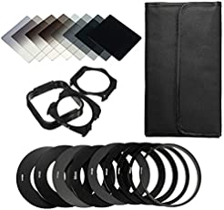 Rishil World 20in1 Neutral Density ND Filter Kit for Cokin P Set SLR DSLR Camera Lens