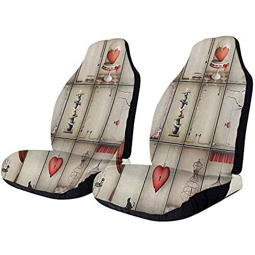 Olive Croft 2PCS Coprisedili per sedili, bandiera Gay Pride elastica, facile da installare, rimuovere la fodera lavabile