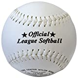 """516GnJmTqfL. SL160  - Softball Synthetic Leather Official League Ball - Size 12"""" Cork Centre rrp£10 sports best price Review uk"""