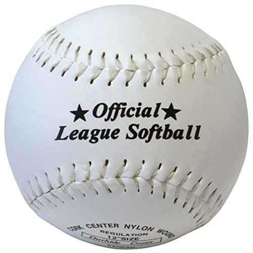 """516GnJmTqfL - Softball Synthetic Leather Official League Ball - Size 12"""" Cork Centre rrp£10 sports best price Review uk"""