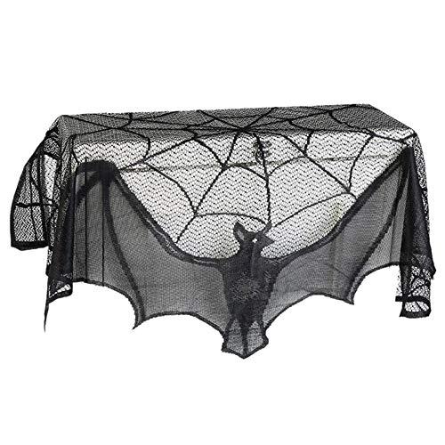 Halloween-Dekor Vorhang Haunted House Gothic Black Lace Spinnennetz Vorh?nge