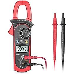 Pinza amperimétrica, Synerky 4000 cuenta voltímetro CA / CC multímetro automático, corriente CA / CC, resistencia, frecuencia, diodo, probador Hz con retroiluminación LCD