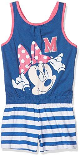Disney minnie, vestito bambina, blu (denim), 122 (taglia produttore:7 anni)