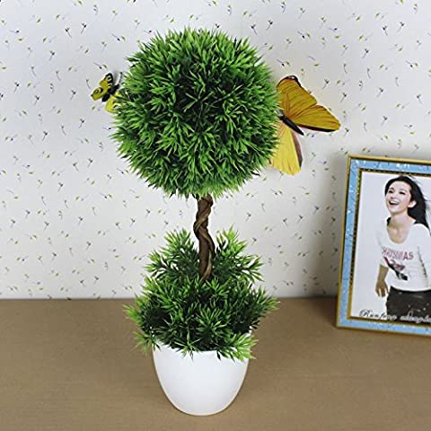 Beata.T Künstliche Blumen Set Plastic Pine Needle Ball Simulation Flower