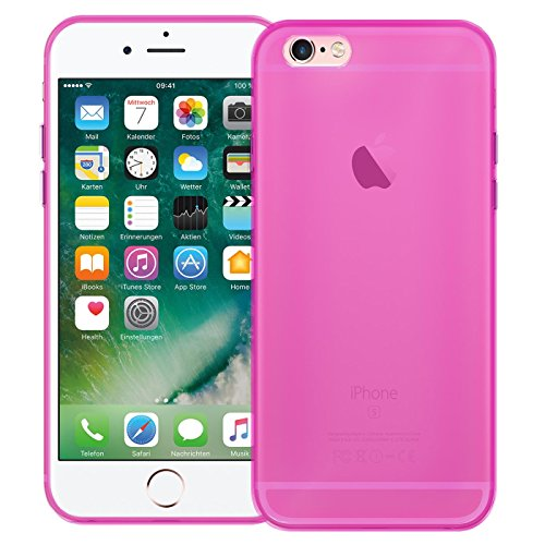 Apple iPhone 6S 6 Plus Hülle Case, Conie Liquid Crystal Ultra Dünn Crystal Clear Transparent Handyhülle Cover Soft Premium-TPU Durchsichtige Schutzhülle Backcover Slimcase für Apple iPhone 6S 6 Plus Pink
