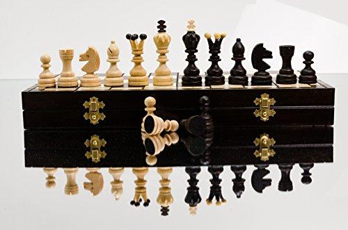 Superb DIAMONDS - 42cm / 16.5in großes Schachspiel aus Holz. Sehr beliebtes europäisches handgefertigtes Schach