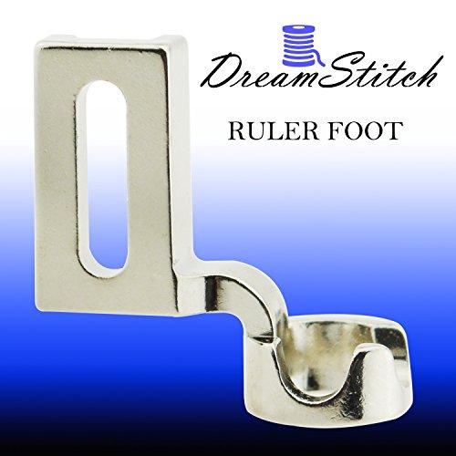 DreamStitch Haute Tige Règle Gratuit Mouvement à repriser Patchwork biche 1/4(1/4Pouce) pour Cadre Quilting Broderie Fit Janome1600p1600p-dx1600p-qc1600series Pfaff Grand Quilter Juki Broth